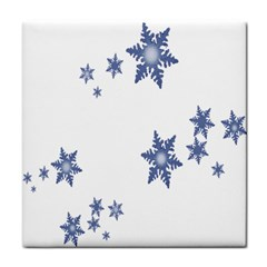 Star Snow Blue Rain Cool Tile Coasters by AnjaniArt