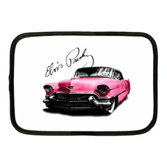 Elvis Presley s Pink Cadillac Netbook Case (medium)  by Valentinaart