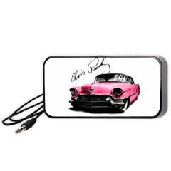 Elvis Presley s Pink Cadillac Portable Speaker by Valentinaart