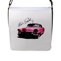 Elvis Presley s Pink Cadillac Flap Messenger Bag (l)  by Valentinaart