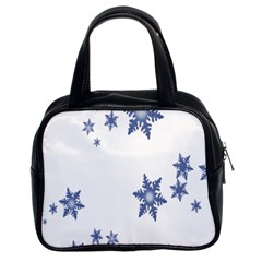 Star Snow Blue Rain Cool Classic Handbags (2 Sides) by AnjaniArt