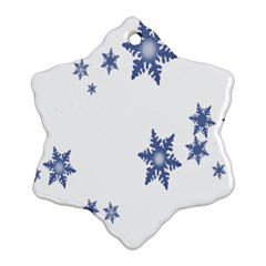 Star Snow Blue Rain Cool Snowflake Ornament (two Sides) by AnjaniArt