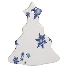 Star Snow Blue Rain Cool Christmas Tree Ornament (two Sides) by AnjaniArt