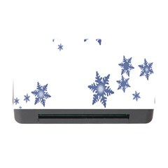 Star Snow Blue Rain Cool Memory Card Reader With Cf by AnjaniArt
