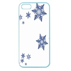 Star Snow Blue Rain Cool Apple Seamless Iphone 5 Case (color) by AnjaniArt