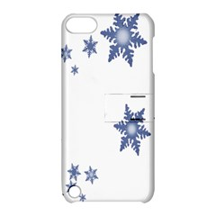 Star Snow Blue Rain Cool Apple Ipod Touch 5 Hardshell Case With Stand by AnjaniArt