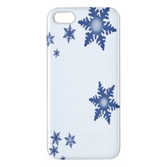 Star Snow Blue Rain Cool Iphone 5s/ Se Premium Hardshell Case by AnjaniArt