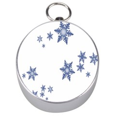 Star Snow Blue Rain Cool Silver Compasses by AnjaniArt