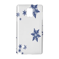 Star Snow Blue Rain Cool Samsung Galaxy Note 4 Hardshell Case by AnjaniArt