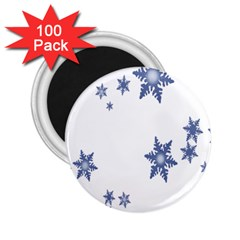 Star Snow Blue Rain Cool 2 25  Magnets (100 Pack)  by AnjaniArt