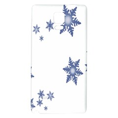 Star Snow Blue Rain Cool Galaxy Note 4 Back Case by AnjaniArt