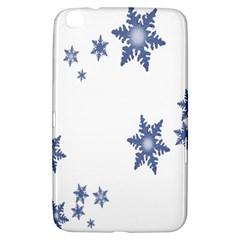 Star Snow Blue Rain Cool Samsung Galaxy Tab 3 (8 ) T3100 Hardshell Case  by AnjaniArt