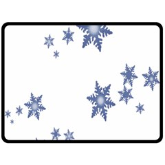 Star Snow Blue Rain Cool Double Sided Fleece Blanket (large)  by AnjaniArt