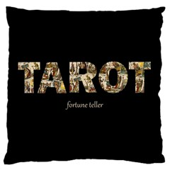 Tarot Fortune Teller Large Flano Cushion Case (two Sides)