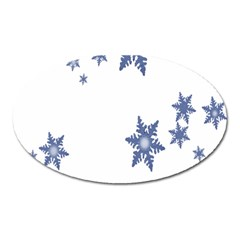 Star Snow Blue Rain Cool Oval Magnet by AnjaniArt