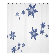 Star Snow Blue Rain Cool Shower Curtain 60  X 72  (medium)  by AnjaniArt