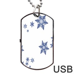 Star Snow Blue Rain Cool Dog Tag Usb Flash (two Sides) by AnjaniArt
