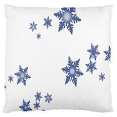 Star Snow Blue Rain Cool Large Cushion Case (two Sides) by AnjaniArt