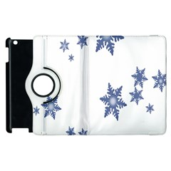 Star Snow Blue Rain Cool Apple Ipad 3/4 Flip 360 Case by AnjaniArt