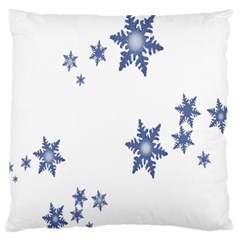 Star Snow Blue Rain Cool Standard Flano Cushion Case (two Sides) by AnjaniArt
