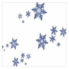 Star Snow Blue Rain Cool Large Satin Scarf (square) by AnjaniArt