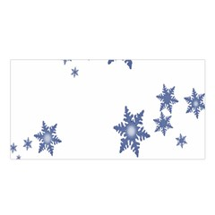 Star Snow Blue Rain Cool Satin Shawl by AnjaniArt