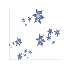 Star Snow Blue Rain Cool Small Satin Scarf (square) by AnjaniArt