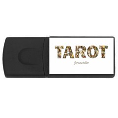 Tarot Fortune Teller Rectangular Usb Flash Drive by Valentinaart