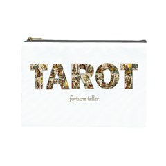 Tarot Fortune Teller Cosmetic Bag (large)  by Valentinaart