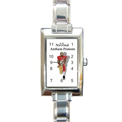 National Anthem Protest Rectangle Italian Charm Watch by Valentinaart