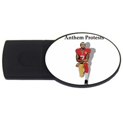 National Anthem Protest Usb Flash Drive Oval (4 Gb) by Valentinaart