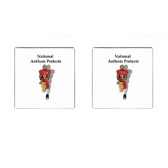 National Anthem Protest Cufflinks (square) by Valentinaart