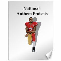 National Anthem Protest Canvas 36  X 48   by Valentinaart