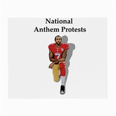 National Anthem Protest Small Glasses Cloth (2 Side) by Valentinaart