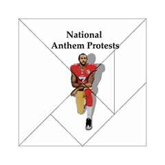 National Anthem Protest Acrylic Tangram Puzzle (6  X 6 ) by Valentinaart