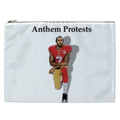 National Anthem Protest Cosmetic Bag (xxl)  by Valentinaart