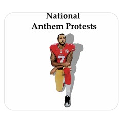 National Anthem Protest Double Sided Flano Blanket (small)  by Valentinaart