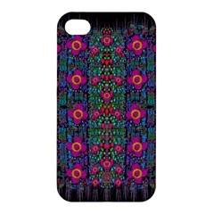 Flowers From Paradise Colors And Star Rain Apple Iphone 4/4s Premium Hardshell Case by pepitasart