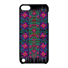 Flowers From Paradise Colors And Star Rain Apple Ipod Touch 5 Hardshell Case With Stand by pepitasart