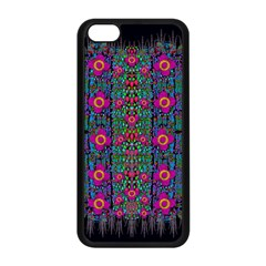 Flowers From Paradise Colors And Star Rain Apple Iphone 5c Seamless Case (black) by pepitasart