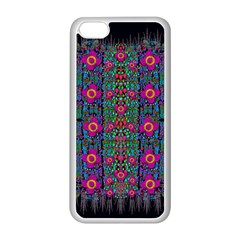 Flowers From Paradise Colors And Star Rain Apple Iphone 5c Seamless Case (white) by pepitasart