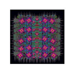 Flowers From Paradise Colors And Star Rain Small Satin Scarf (square) by pepitasart