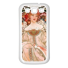 Alfons Mucha   F  Champenois Imprimeur ¨|diteur Samsung Galaxy S3 Back Case (white) by 8fugoso