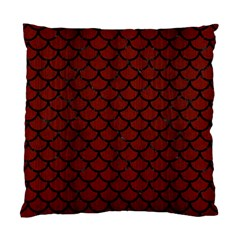 Scales1 Black Marble & Reddish Brown Wood Standard Cushion Case (one Side) by trendistuff