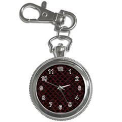 Scales1 Black Marble & Reddish Brown Wood (r) Key Chain Watches by trendistuff