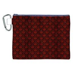 Scales2 Black Marble & Reddish Brown Wood Canvas Cosmetic Bag (xxl) by trendistuff