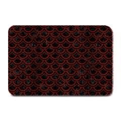 Scales2 Black Marble & Reddish Brown Wood (r) Plate Mats by trendistuff