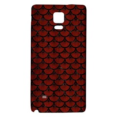 Scales3 Black Marble & Reddish Brown Wood Galaxy Note 4 Back Case by trendistuff