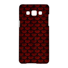 Scales3 Black Marble & Reddish Brown Wood Samsung Galaxy A5 Hardshell Case  by trendistuff