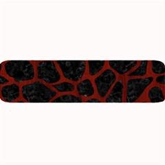 Skin1 Black Marble & Reddish Brown Wood Large Bar Mats by trendistuff